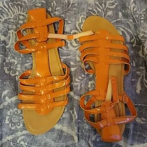 Womens Orange sandles